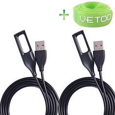 Vetoo Replacement USB Charger Cable BlackCompatible For Fitbit Flex Wireless Activity Bracelet Wristband Pack of 2 * You can get additional details at the image link. (This is an affiliate link) Enjoy the top-quality electronics here Dog Deterrent, Electronics Gadgets, Fitbit Flex, Charger, Usb, Activities, Cable, Image Link, Bracelet