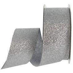 "the Ribbon Boutique 1 1/2"" Silver Glitterati Ribbon | Shop Hobby Lobby"