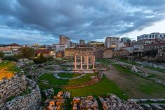 Remains of Hadrian's Library in the old town of Athens, Greece. - Buy this stock photo and explore similar images at Adobe Stock Milan Italy, Old Town, Places To See, Fine Art America, Dolores Park, Old Things, Stock Photos, Explore, Mansions