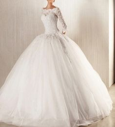 New long-sleeved wedding dresses prom ball gown bridal dress luxury Ball Gown / Duchesscustom size