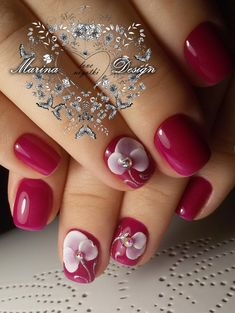 Фотографии Marina Design 3d Nail Art, Nail Art Hacks, 3d Nails, Pink Nails, Acrylic Nails, The Art Of Nails, Nagel Gel, Beautiful Nail Designs, Flower Nails