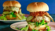 Turkey burgers with bbq onions