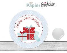 """www.papierbuedchen.de - 24 Aufkleber """" Geschenke """" (W18) - Weihnachten"""
