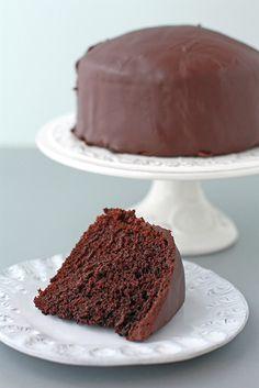 Kitchen Heals Soul: Egg-less chocolate cake with a ganache glaze (Chloes birthday cake?)