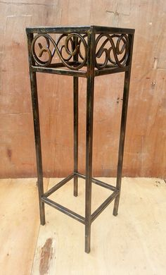 rustic wrought iron  side table bedside table por RosesUpcycled