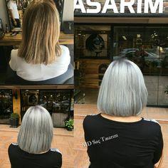 Gri saç rengini canlı makyaj ile kullandığınızda oldukça şık ve hoş görunebilirsiniz.. Tarz ve stil sahibi olmak istiyorsaniz gri saç trendine ayak uydurabilirsiniz.. 👍👍 #gri #grey #grisaç #greyhair #hair #saç #izmir #kuaför #trend #sacmodelleri #kesim #haircutting #exclusivesalon #mdsactasarim