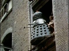 """the doctor pushing a dalek out the window. Immune to nearly every weapon humans have built Except second story windows.Quite possible the most epic Doctor Who gif. I can hear the dalek still screaming """"EX-TER-MIN-ATE! Catherine Tate, Alex Kingston, Doctor Who, Christopher Eccleston, Rory Williams, Donna Noble, Billie Piper, Amy Pond, Rose Tyler"""