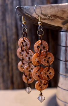 China Button Earrings    by Dorene Eggleston