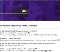 Check out our frequently asked questions about LoudCloud.