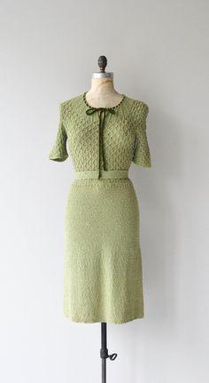 Lady Fern dress vintage 1930s dress 30s knit dress by DearGolden
