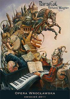 Richard Wagner - Parsifal  Original Polish Opera poster  designer: Tomasz Setowski  year: 2011