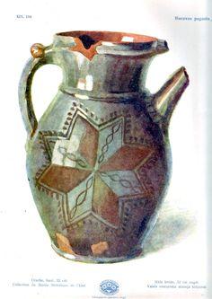 Clay pitcher, Rucava region, Latvia.
