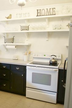 Amazing kitchen shelves ikea only on iluxhome.com Cute Kitchen, Diy Kitchen, Kitchen Decor, Luxury Kitchens, Cool Kitchens, Kitchen 2016, Latest Kitchen Designs, Compact Kitchen, Shelves
