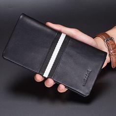 26.99$  Watch now - https://alitems.com/g/1e8d114494b01f4c715516525dc3e8/?i=5&ulp=https%3A%2F%2Fwww.aliexpress.com%2Fitem%2Ffashion-famous-brand-men-casual-wallets-genuine-leather-Top-quality-men-s-wallet-Long-design-men%2F32709863706.html - fashion famous brand men casual wallets genuine leather Top quality men's wallet  Long design men clutch bag purse black 26.99$