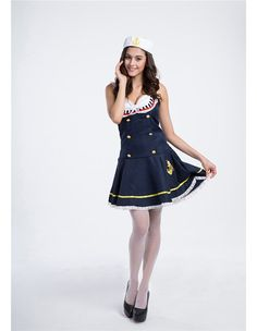 Product Code: Package included: hat and dress Gender: Female Age Group: Adult Color:blue Pattern: Sailor costume Material: Polyester Fiber 2016 the latest Halloween costumes are available. Sailor Costumes, Halloween Costumes, Halloween Ideas, Costumes For Women, Cheer Skirts, Comfy, Gender Female, Color Blue, Unique