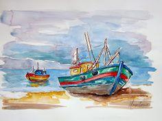 Barcos Aquarela
