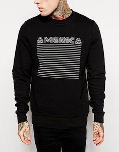 Image 3 of ASOS Sweatshirt With America Print