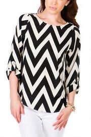 Belle Isle Park Chevron Top in Black