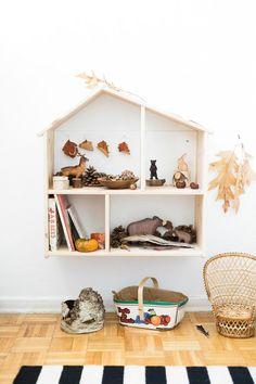 Modern wood and white nursery