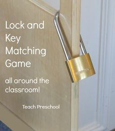 Lock and Key Matching Game by Teach Preschool