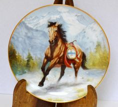Thunderfoot A Pawnee War Pony Plate by Perillo War by PanchosPorch, $15.00 #horse #vintage