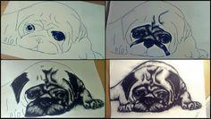 #pug #mops #drawing #giftforgf