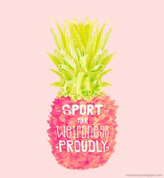 free #pineapple art print | printable | neon| bright | inspiration | positive message | .This coffee flavored life.:
