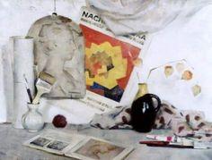 "Ekaterina Kiseleva ""White still life"" Oil on canvas, 2003"