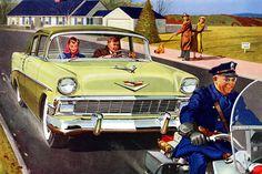 Plan59 :: Classic Car Art :: Vintage Ads :: 1956 Chevrolet 210