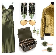 """""""grab your greens"""" by pensivepeacock ❤ liked on Polyvore featuring Alexander Wang, Marni, Valentino, Maison Margiela, Dolce&Gabbana, Linda Farrow and Pomellato"""