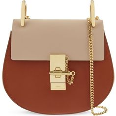 CHLOE Drew mini saddle cross-body bag (£1,140) ❤ liked on Polyvore featuring bags, handbags, shoulder bags, mini crossbody, leather handbags, chain shoulder bag, genuine leather handbags and chloe handbags