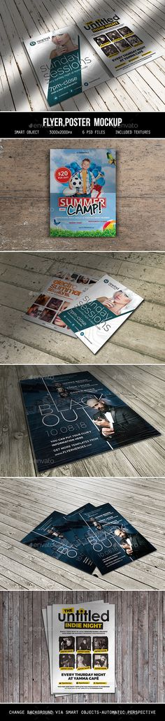 Flyer Poster Mockup — Photoshop PSD #design #advertising • Available here → https://graphicriver.net/item/flyer-poster-mockup/7707121?ref=pxcr