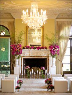 glamorous wedding ceremony   how to repurpose florals for ceremony   #weddingchicks