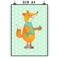 Poster DIN A4 Fuchs Keks aus Papier 160 Gramm  weiß - Das Original von Mr. & Mrs. Panda.  Jedes wunderschöne Motiv auf unseren Postern aus dem Hause Mr. & Mrs. Panda wird mit viel Liebe von Mrs. Panda handgezeichnet und entworfen.  Unsere Poster werden mit sehr hochwertigen Tinten gedruckt und sind 40 Jahre UV-Lichtbeständig und auch für Kinderzimmer absolut unbedenklich. Dein Poster wird sicher verpackt per Post geliefert.    Über unser Motiv Fuchs Keks  Die Fox-Edition ist eine besonders…