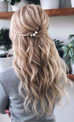 Braided Hairstyles For Wedding, Elegant Hairstyles, Bride Hairstyles, Down Hairstyles, Gorgeous Hairstyles, Easy Hairstyles, Dinner Hairstyles, Bridesmaid Hairstyles, Hairstyle Ideas