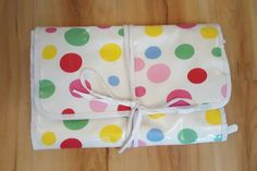 Cath Kidston Spot Toiletry Wash Bag / Cosmetics / Make up / Travel Roll Wrap | eBay