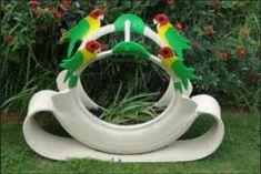 Tyre Bird planter