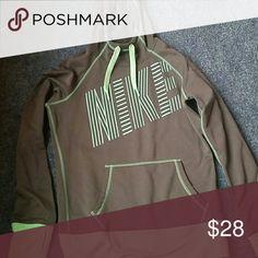 Nike Women's Fleece Hoodie Super warm hoodie. Mint and grey. Nike Tops Sweatshirts & Hoodies