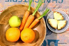 Ananászos turmix recept Carrots, Mango, Keto, Vegetables, Fruit, Food, Manga, Essen, Carrot