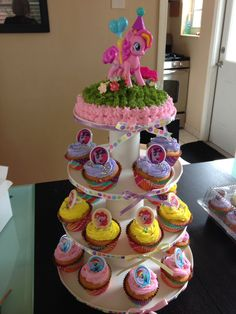 My little poney cup cakes