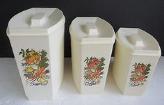 Vtg SPICE OF LIFE Kitchen Canister Storage Containers Set of 3 VERY NICE!