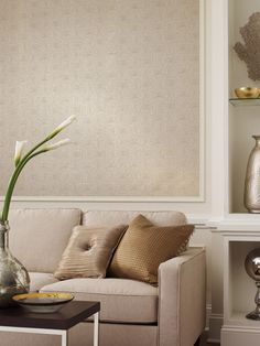 Use moldings to create a frame around #wallpaper. Makes for a great, unique look!