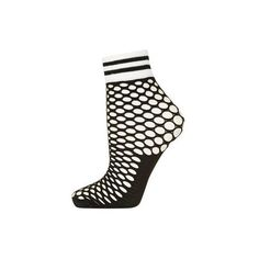 TopShop Sporty Trim Fishnet Socks ($5.49) ❤ liked on Polyvore featuring intimates, hosiery, socks, white, tennis socks, fishnet socks, short socks, white hosiery and fishnet ankle socks