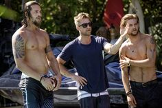 """Ben Robson, Scott Speedman (who ought never wear clothes), and Jake Weary - promo for the series """"Animal Kingdom"""""""