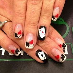cool casino nail themes - Google Search