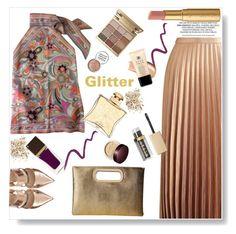 """Glitter"" by gul07 ❤ liked on Polyvore featuring Fendi, Miss Selfridge, Jessica McClintock, Stila, Too Faced Cosmetics, Hermès, Laura Mercier, Tom Ford, Topshop and Avon"