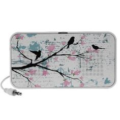Three Birds on a Branch Laptop Speakers