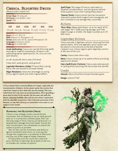 [Plant Boss] Cresca, Blighted Druid