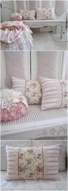 Lace-adorned pillows