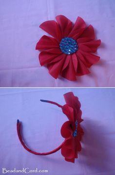 DIY Hair Accessories : Fabric Flower Headband Instructions